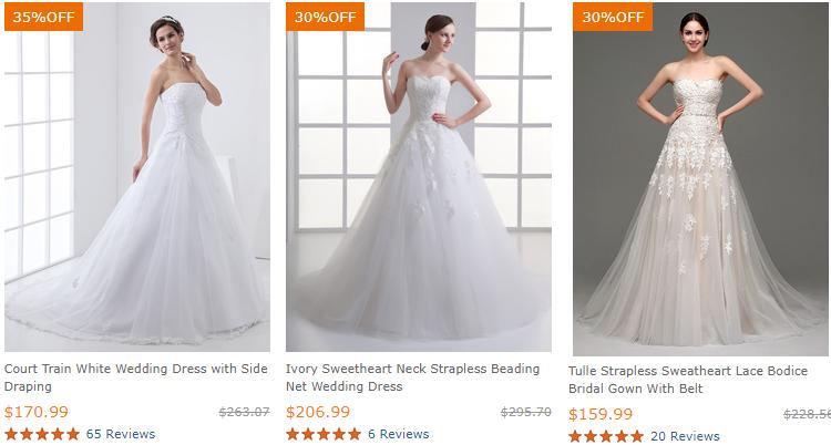 tiendas de vestidos de novia para comprar barato